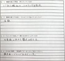 愛知県 リラクゼーションスペース Fu~ 様 アンケート